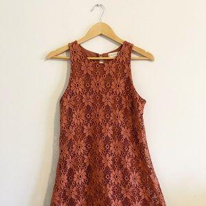 Altar'd state burnt orange lace aline dress